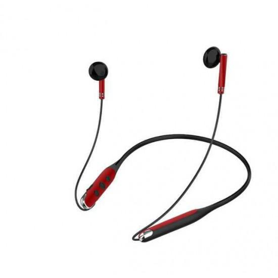 ACB-18 MetalNeckEar Kablosuz Boyunluk Bluetooth Kulaklık TF Hafıza Kartı girişli HD Ses